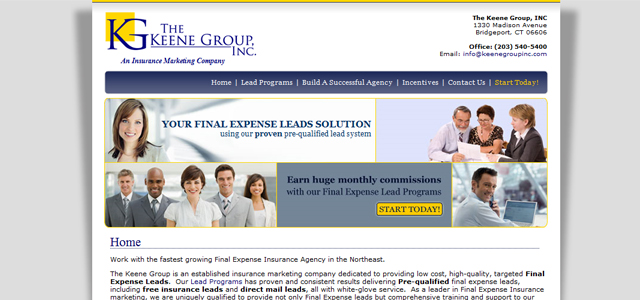 The Keene Group Inc. Website Design