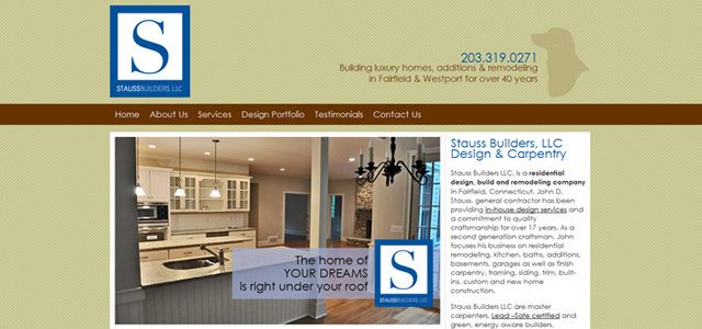 Stauss Builders Website Design